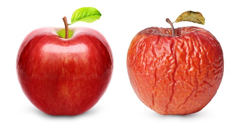 シワシワりんご