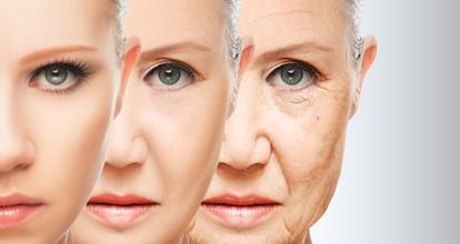 老けていく女の顔