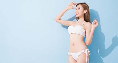 痩せた女性の写真